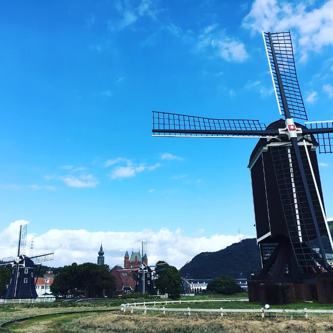 ハウステンボス風車の写真