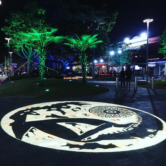 ケアンズ市内夜景
