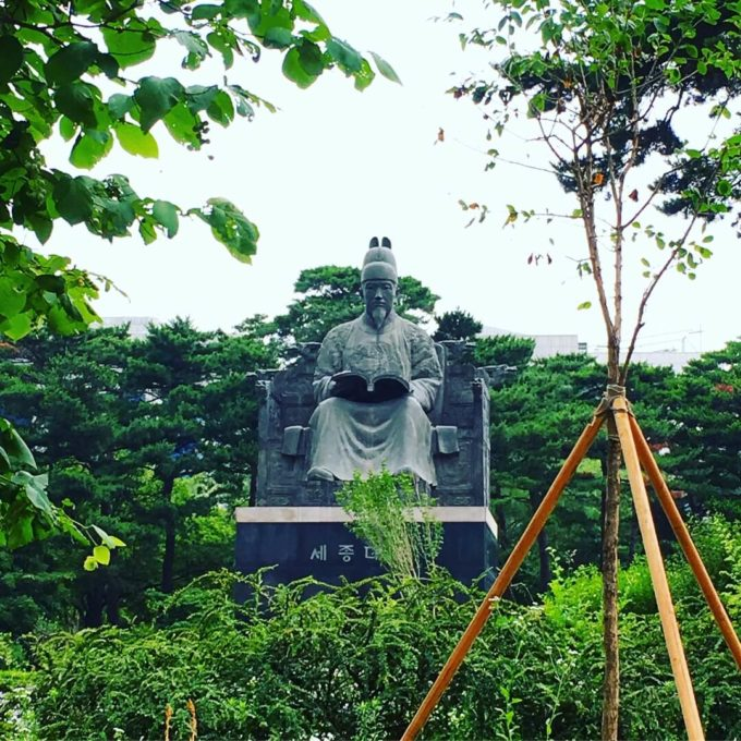 公園内銅像