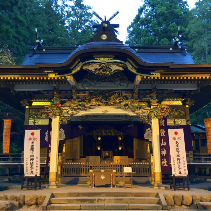 宝登山神社ライトアップ
