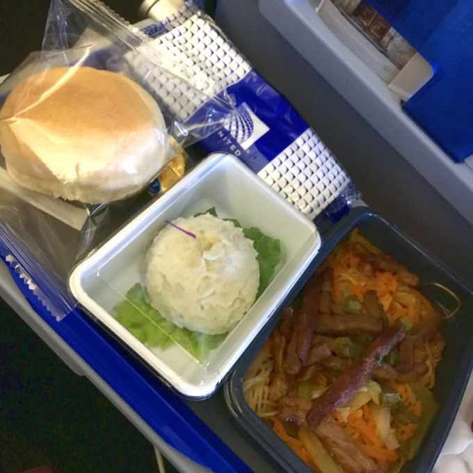 ユナイテッド航空機内食