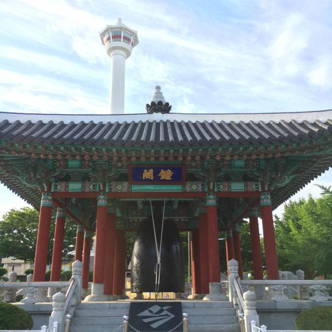 釜山タワー 鐘