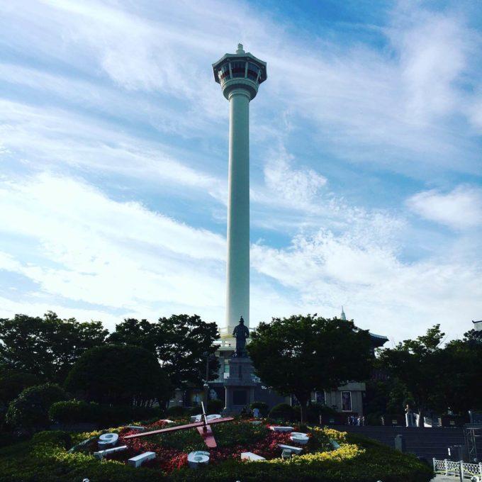 釜山タワー花時計