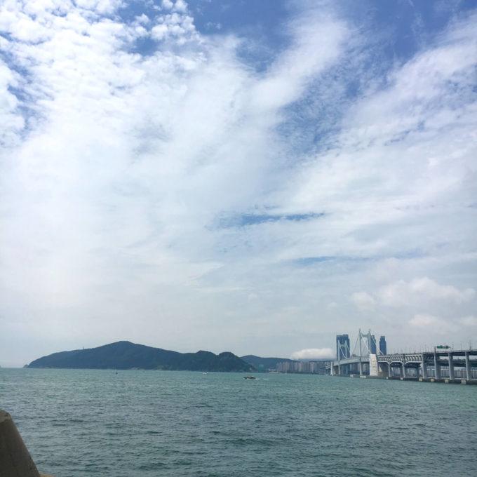 釜山 海運台海岸通り